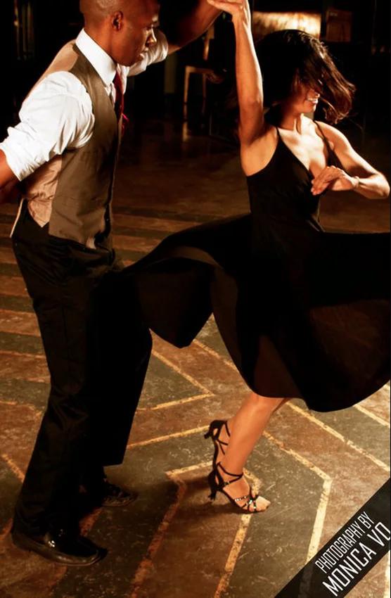 Liquid Rhythm Salsa instructors, Derek & Mariangel Dollis